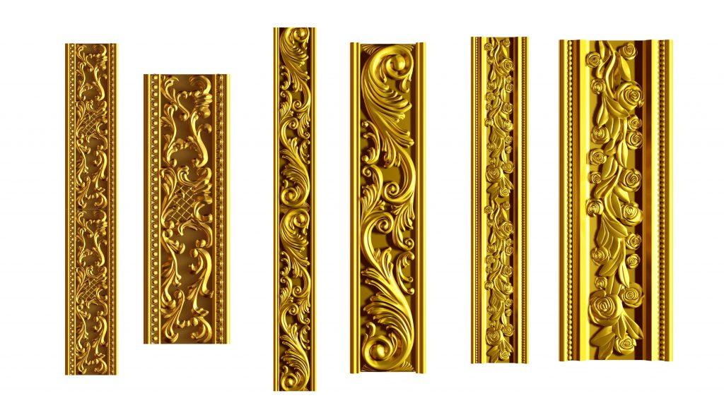 Golden Ornamental Segment Frame Border Free Download